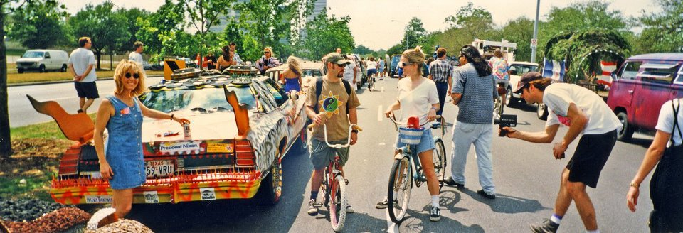 Photo by Chris Mayes circa 1996. Miss Anne is the cyclist on the right.