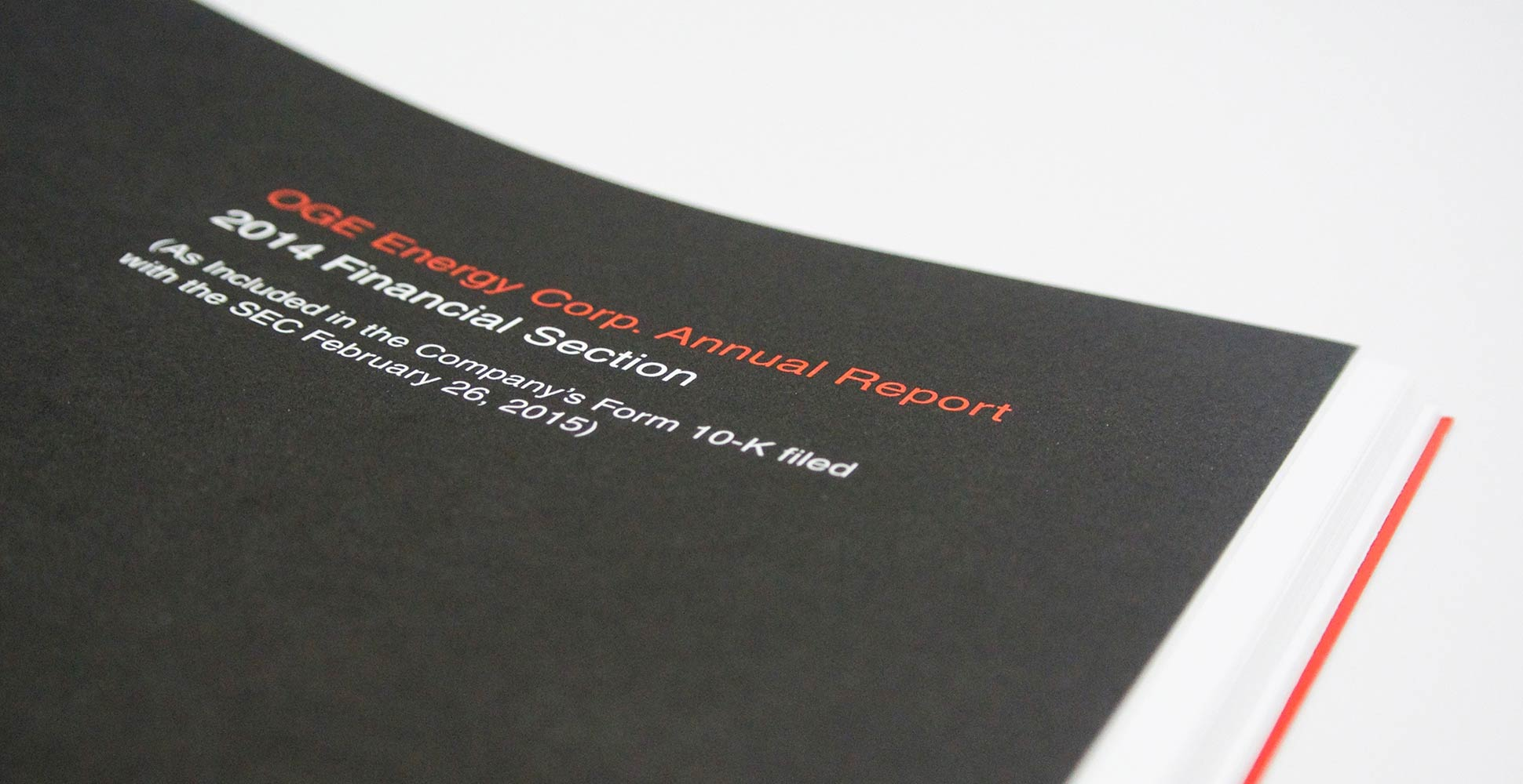 OGE Energy Annual Report Design by Herring