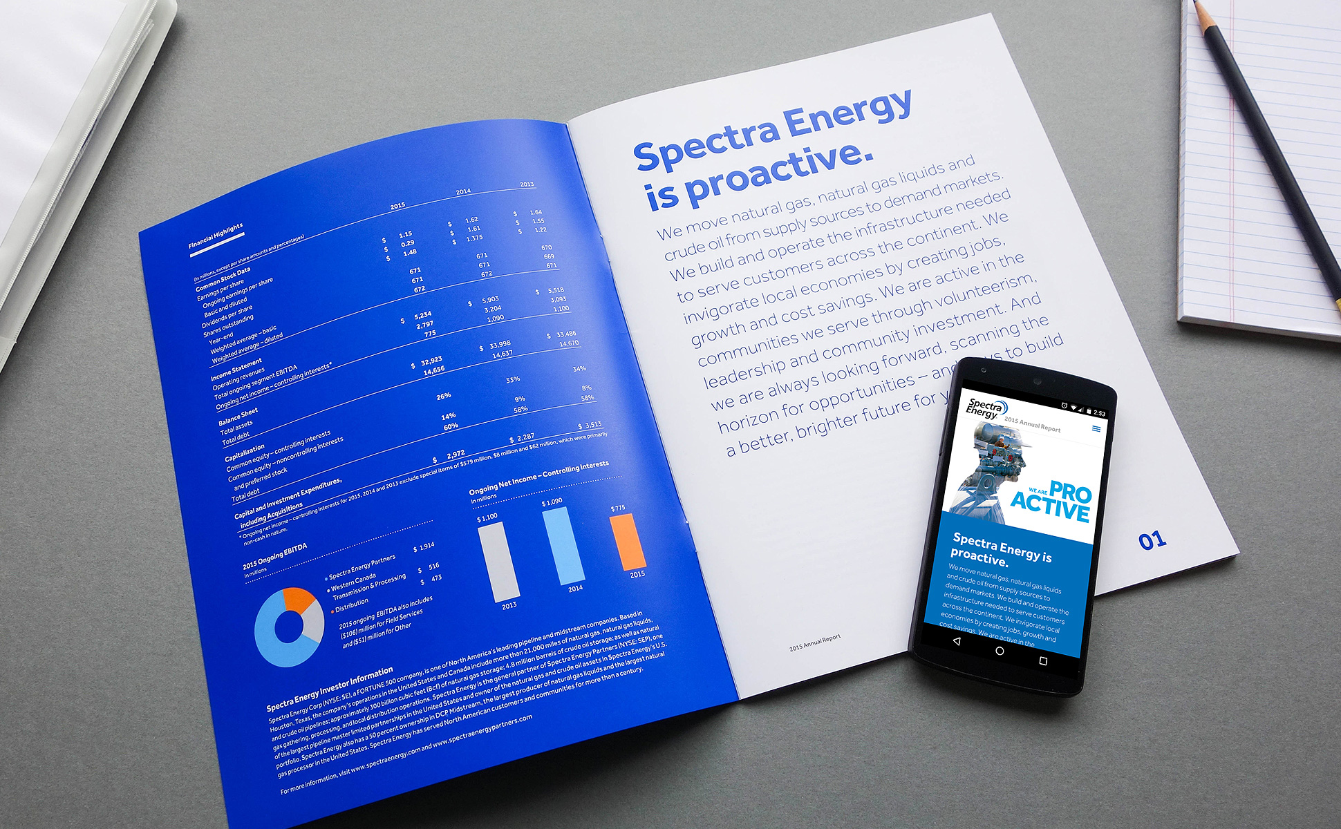Spectra Energy 2015 Annual Report by Herring Design