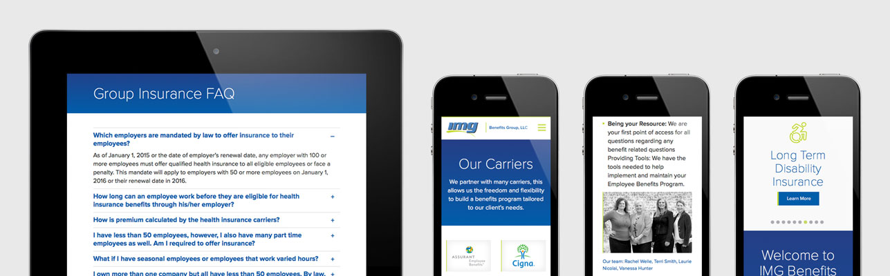 Responsive website design for IMG Benefits Group