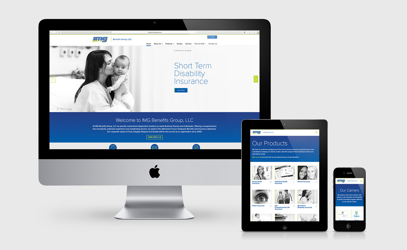IMG Benefits Group Website Design